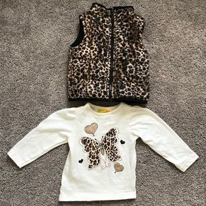 Other - Chic leopard print baby girl outfit